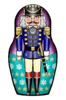 Nutcracker matryoshka (nesting doll) phone doodle by Flrmprtrix