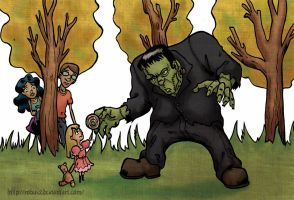 Frankenstein monster tryout by Robus2