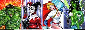 March of Dimes  sketch cards by DJLogan