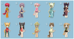 Adopts [Batch 27 - Dogs and Wolfs] [Open] by Sephiriah