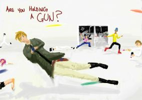 88. Are you holding a gun? by icepenguin26