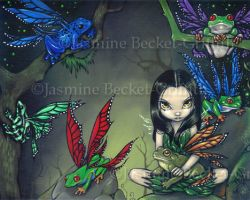 My Fairy Frog Friends by jasminetoad