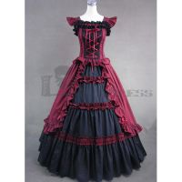 Black and Red Gothic Victorian Dresses by mysexyzentai