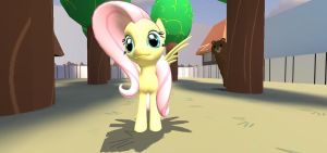 Fluttershy Look Behind You! by Brony4Eternity