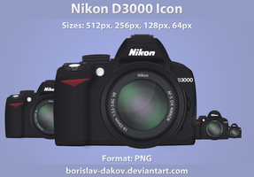 Nikon D3000 Icon 1.1 by borislav-dakov