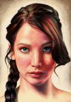 Jennifer Lawrence as Katniss Everdeen (updated) by Pevansy