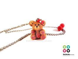 Teddy Bear with polka dot details by Selmmma