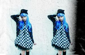 me in blue and silver wig_2 by kagomeP