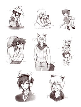 Tumblr Doodledump by silverei