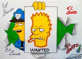 El Barto Drawing by SuperNikolai1996