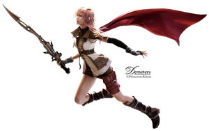 lightning FFXIII render .png by demeters