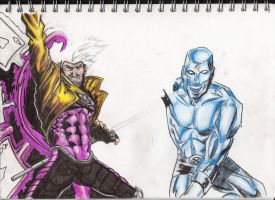 Gambit and Iceman by artystevelewis