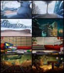 'Trippel Trappel' backgrounds by kivapo