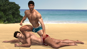 Beach Hunks 01 by KevIzz