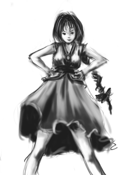 practice girl in dress by egnki