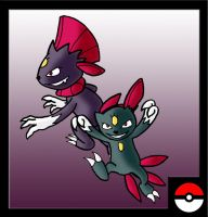 Sneasel Family by ZappaZee