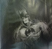 Batman with charcoal by Bloo-DKai12