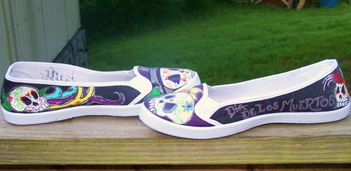 Day of the Dead Shoes by ChumpShoes