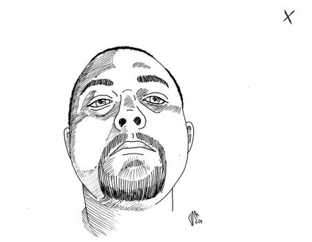 drawing of a friend by JRZombie