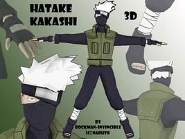 3D kakashi by Rockman-Invincible