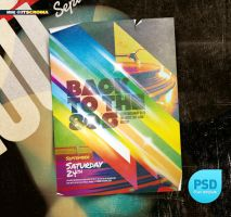 PSD Indie Vintage Flyer Back to 80s by itscroma