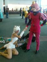 AX 2012: Prince Gumball and Cake by AnthroKagamine