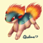 Go, Quilava, Go! by BlueBerryBear