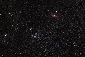 M52 and the Bubble Nebula by DoomWillFindYou