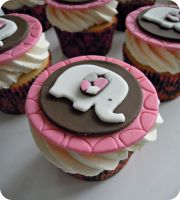 Elephant Cupcakes by cake4thought