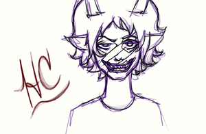 Sober Gamzee Rough Sketch by fennyris