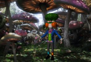 3D Hatter in 2D Wonderland by JudytaDragon