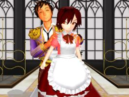 [MMD] Chibi Romano and Spain by Sickena