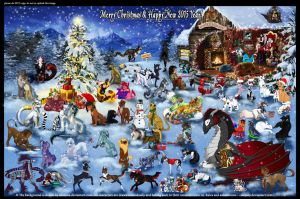 ChristmasCollab2014 by mejony