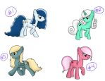Long Hair MLP Adopts - CLOSED by BenAdoptables