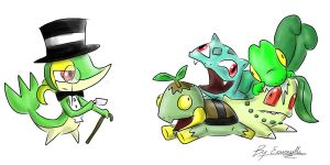 Sir Snivy by ecumsille