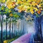 Violet fog - oil painting by Leonid Afremov by Leonidafremov