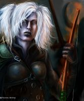 Female Drow, Archer by mcgray