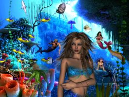 Mermaids Coral Reef by sweetpoison67