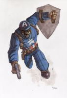 WWII Captain America Commission by gravyboy