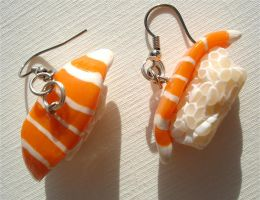 Sushi earrings by MotherMayIjewelry
