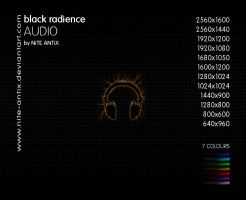 Black Radience Audio Wallpaper by NiTE-ANTiX