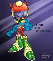 Zonic the Hedgehog by ambersonic96
