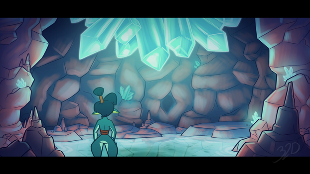 (Speedpaint) Fired Up - Color Test_Quartz Cave by 32d