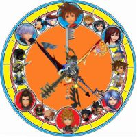 KH stained glass: Keyblade Wielders by VexenRandomDrawerGuy