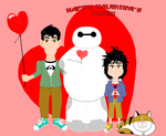 Happy Valentine's Day from the Hamada Brothers by DarkwingFan