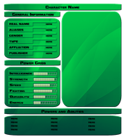 Template : Character Stats by vipplayer