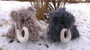 Wooly mammoths for my nephews by demiveemon