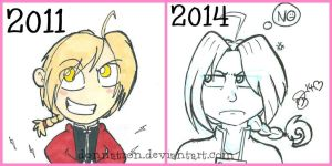 Edward Elric comparison. -IMPROVEMENT- by donnatron