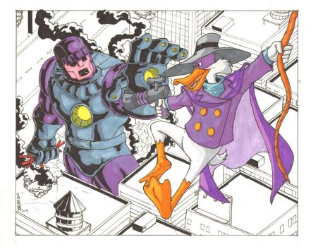 Darkwing Duck vs Sentinel commission by Marvin000