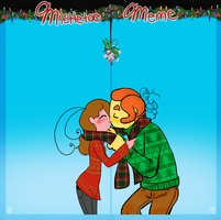 At Mistletoe Meme - Gordie and Carmel by MissPomp
